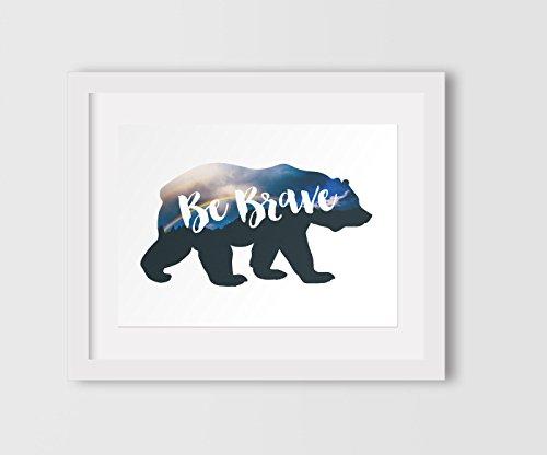be-brave-rainbow-print-woodland-bear-nursery-art-8-x-10-inches