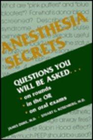 Anesthesia Secrets (The Secrets Series) by James Duke (1996-07-02)