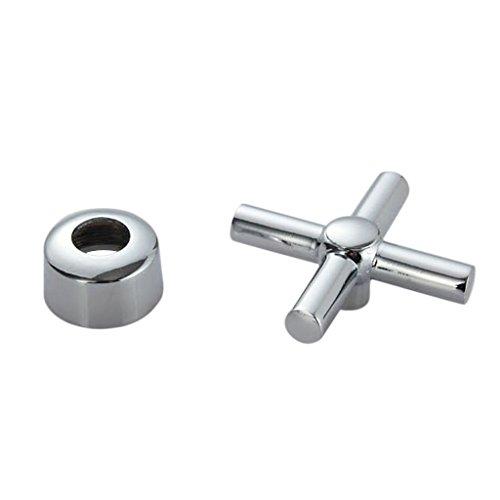 MagiDeal Kupfer Armaturen Wasserhahn Griffe / Adapter, Ventiladapter Ventilgriffe für Wasserhahn - Kreuz-Doppelventilgriff