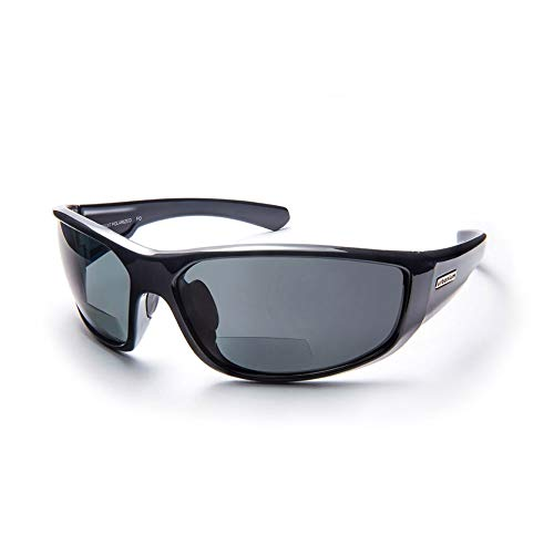 Urbanium Eyewear sportliche Sonnenbrille mit Sehstärke Modell Rio mit polarisierten Gläsern in schwarz in verschiedenen Stärken (+3.00)