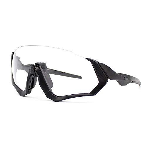 ZoliTime 2018 Nuova Giacca da Volo Oakley OO9401 Transition Photochromic Occhiali da Ciclismo 3 Lenti (Nero)