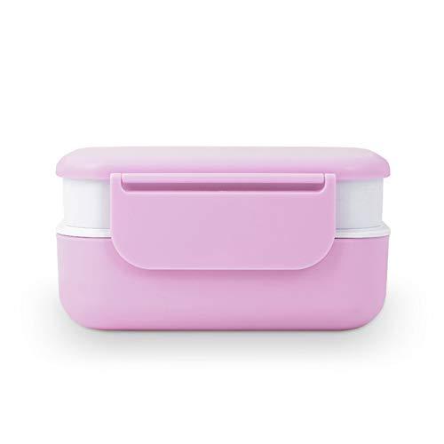 LTLSF Bento Box, Tragbares, Versiegeltes Fach, Auslaufsicher, Atmungsaktiv, Damen, Herren, 2-lagige Aufbewahrungsbox, Mikrowellenheizung, Campingausflug