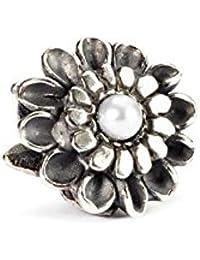 Trollbeads Damen-Bead 925 Sterling Silber weiß TAGBE-00037