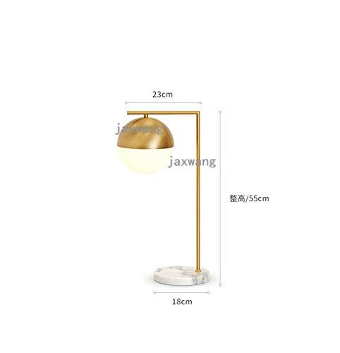 5151BuyWorld Lampe Nordic Glaskugeltischleuchte Top Qualität Postmodern Schlafzimmer Offic Schreibtisch Licht Und Luxuriöse Marmor Messing Nachttischlampe Studie Beleuchtung Lesen {A} -