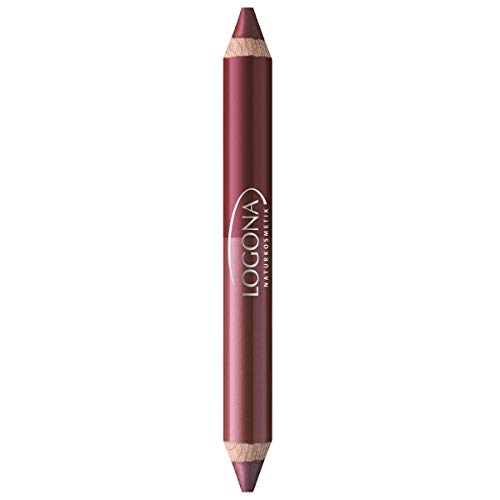 LOGONA Naturkosmetik Double Lip Pencil No. 03 Berry, Natural Make-up, Lippenstift, abgestimmte Farbnuancen, mit Anti-Aging Wirkstoffkomplex, Bio-Extrakte, 4.67 g