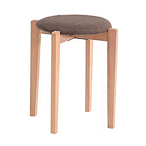 Sgabello multi-funzionale impilabile sgabello piccolo sgabello moderno in tessuto in legno massello per la casa weiyv (colore : wood-color-brown, dimensioni : 40 * 47cm)