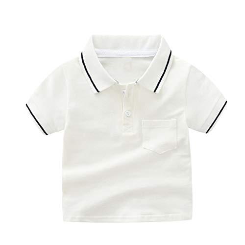 JERFER Shirt Kleinkind Kurzarm Solid Gentleman Tops T-Shirt Kleidung -