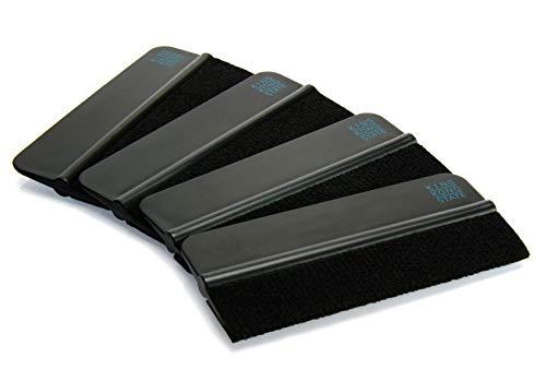 Rakel 4er Pack von KING KONG STATE ® - hochwertige Folien-Rakel mit Filzkante 10 x 4,5 cm -
