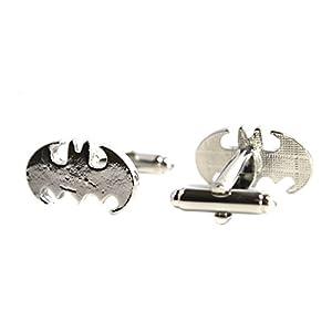 Samt-Box für Manschettenknöpfe Edelstahl Men's Jewelry Manschettenknöpfe Batman, für Party und Hochzeit, Geschenk, 1 Paar