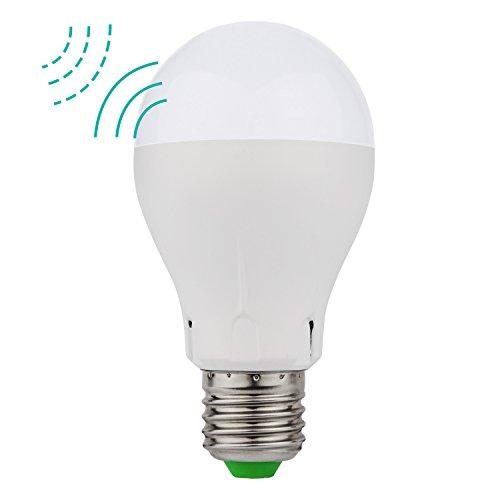 Minger LED Lampen Bewegungsmelder E27 5W Mikrowellen Radar Bewegungssensor LED Birnen 400lm Warmweiß (2700K) Dekorative Beleuchtung für Korridor, Weg, Treppe, Garten, Hof, 1 Stück