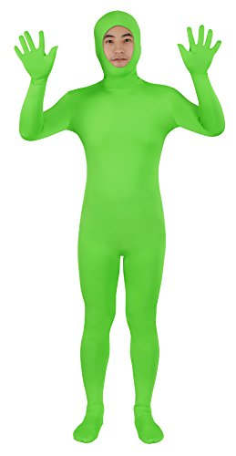 Sheface Spandex Open Face Zentai Suit Halloween Costumes (Large, Lime Green) (Green Halloween-kostüme Lime)