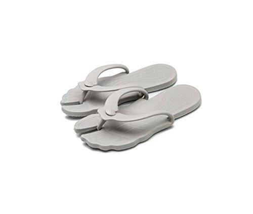 Shi xiaoshu Viaggio Portatile Pieghevole Pantofole da Viaggio Antiscivolo Scarpe da Spiaggia al Mare Scarpe da Donna morbide (EU 41-42, Grigio Chiaro)