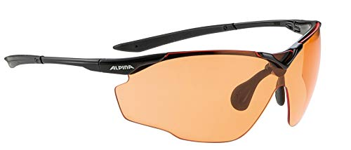 Alpina Sonnenbrille Performance SPLINTER SHIELD VL Outdoorsport-brille, Black, One Size