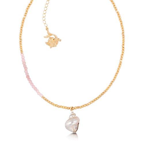 Disney Couture-Collana placcata in oro rosa con perline, Sirenetta Ariel-Collana a conchiglia