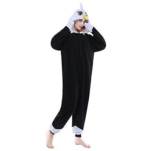 URVIP Erwachsene Unisex Jumpsuit Tier Cartoon Fasching Halloween Pyjama Kostüm Onesie Fleece-Overall Schlafanzug Adler - Adler Jungen Kostüm