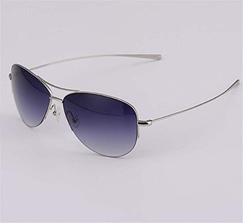 Pure Titan Polarisierten Sonnenbrillen Männlichen Fahrer Fahren Froschspiegel High-End-Sonnenbrille Licht Silberrahmen Grau Blau Tabletten