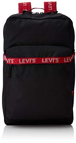 LEVIS FOOTWEAR AND ACCESSORIES Herren The Levi\'s L Pack Twill Tape Rucksack, Schwarz (Noir), 29x12x49 centimeters