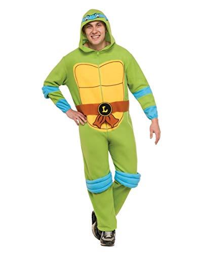Horror-Shop Leonardo Turtles Kostüm-Overall mit Kapuze (Teenage Mutant Ninja Turtles Leonardo Jumpsuit Kostüm)