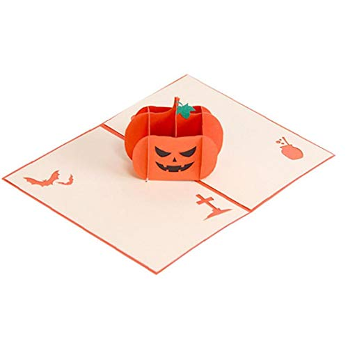 3D-Pop-Up-Karten Für Halloween-Party-Karten-Geschenke Lustige Hexen-Kürbis-Karte
