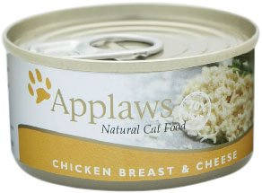 Applaws Cat Food Tin Chicken and Cheese, 70g, Pack of 24