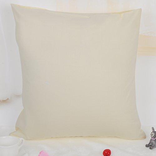 100% Baumwolle Kissenbezug Kissenhülle Kissen Bezug Hülle Bezüge Dekokissen Sofakissen 80x80cm Beige/Crème