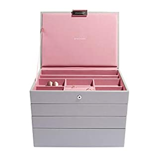 Stackers Dove Grey & Antique Pink Classic Jewellery Box - Set of 4