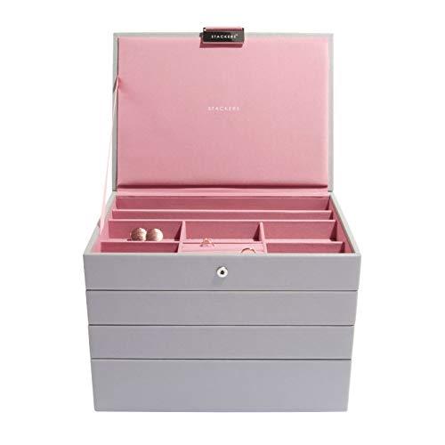 Stackers 4-lagiger Schmuckkasten Classic Size Dove Grey & Antique Pink