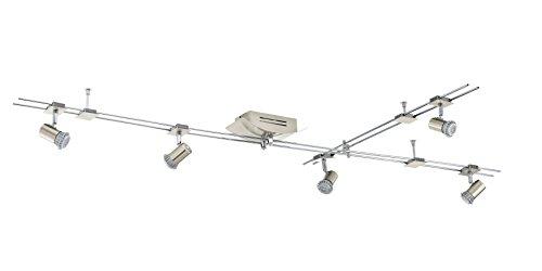 EGLO Schienenleuchte Modell Boltana Nv-Schiene / 5, nickel matt / chrom 93027 E