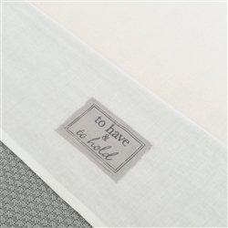 Little Naturals 008-524-64985 Drap, 120 x 150 cm, blanc/gris