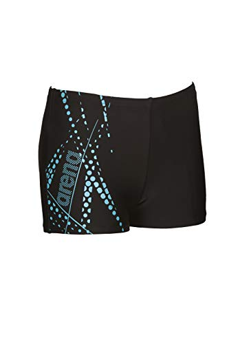 ARENA Jungen Badehose Burst, Black-Sea Blue, 140