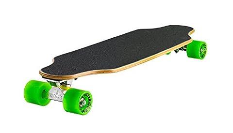 Ridge Skateboards Unisex Natural Range Twin Tip Skateboard, Green, 27 inch