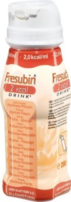 Fresenius Kabi Fresubin 2 kcal Drink Aprikose Pfirsich Trinkflasche, 24 x 200 ml, 1er Pack (1 x 5,5 kg)