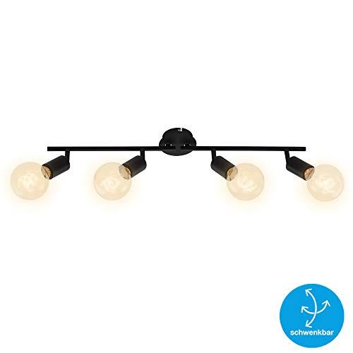 Briloner Leuchten - Lámpara de techo, 4 focos, retro/vintage, focos giratorios y...