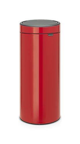 Brabantia - 115189 - Poubelle Touch Bin Unie New, 30 L - Rouge Passio