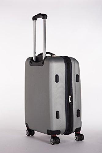 Packenger 501/24-003P-04 Koffer, 62 cm, 60 Liter, Silber - 2