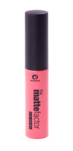 Miners Cosmetics, Rossetto liquido opaco The Matte Factor, Peach