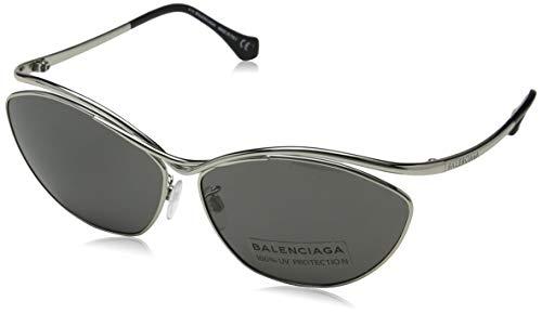 Balenciaga Damen Sonnenbrille, Silver, 65