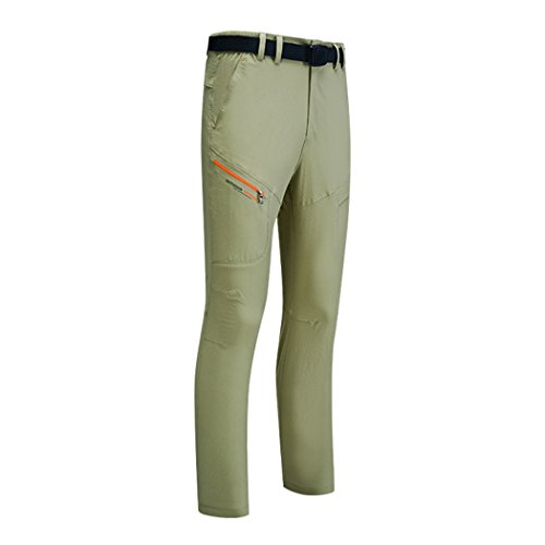 walk-leader coppie, da uomo pantaloni outdoor campeggio in nylon leggero asciugatura rapida pantaloni Khaki/Men XX-Large