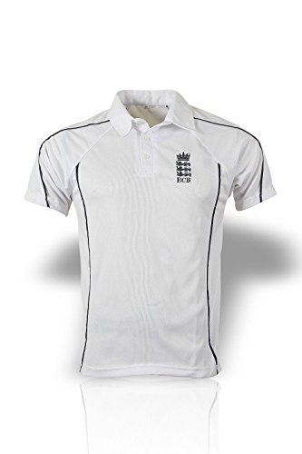HIGH QUALITY CRICKET SHIRT WITH ENGLAND LOGO LARGE 42-44CM CHEST