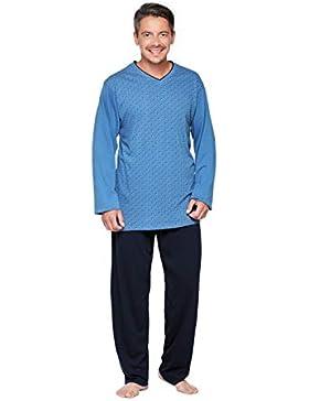 Moonline nightwear - Pijama - Cuadrados - Manga Larga - para hombre