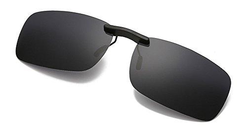 DAUCO polarisierte Sonnenbrille für Brillenträger Überzieh-Sonnenbrille mit Brillen-Etui für Herren und Damen Sonnenbrillen-Clip
