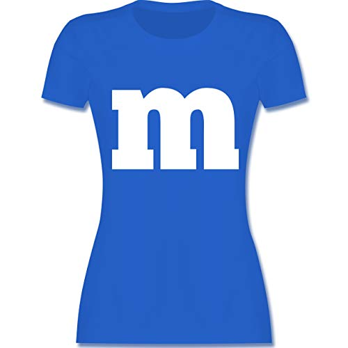 Junggesellinnenabschied Damen Kostüm - Karneval & Fasching - Gruppen-Kostüm m Aufdruck - L - Royalblau - L191 - Damen Tshirt und Frauen T-Shirt