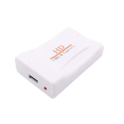 HD USB 3 0 Capture HDMI Video Capture Dongle 1080P 60FPS Capture Box Plug Play Color white