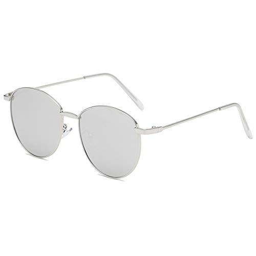 fazry Damen Herren Mode Persönlichkeit Unregelmäßige Form Metall Rahmen Sonnenbrille Vintage Punk Style Brille(F)