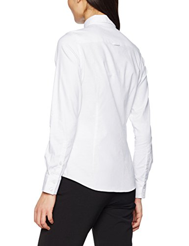 GANT Damen Bluse Stretch Oxford Solid Shirt Weiß (WHITE 110)