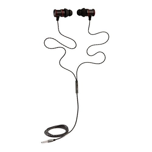 �rer Kopfhörer - HD-Sound - Tiefe Bässe mit Metall 1-Knopf-Mikrofon für Apple iOS/Android - Smartphone Tablet Laptop MacBook - Black ()