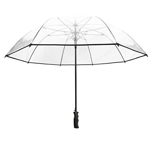 SMATI Paraguas Largo Transparente 12 Varillas