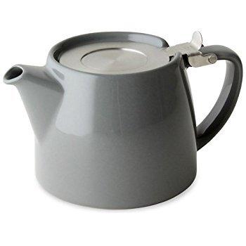ForLife Stump Théière avec Infuseur 510,3gram (Gris) Plus d'un échantillon de Mystic Brew de thé en vrac.