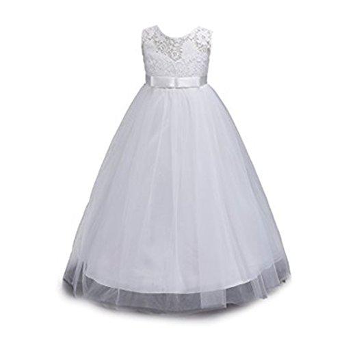 Shinekoo Mädchen Festlich Kleid Kinder Spitze BlumenMädchen Prinzessin Kommunionkleid Festkleid...