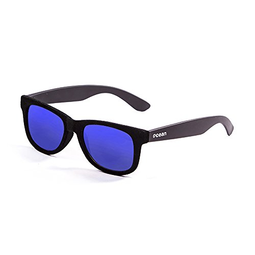 OCEAN SUNGLASSES - beach velvet - lunettes de soleil - Monture : Noir velours - Verres : Revo Bleu (V18202.96)